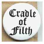 Övrigt. Pin Cradle of Filth (white)