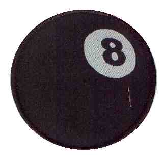 Tygmärke Eight Ball