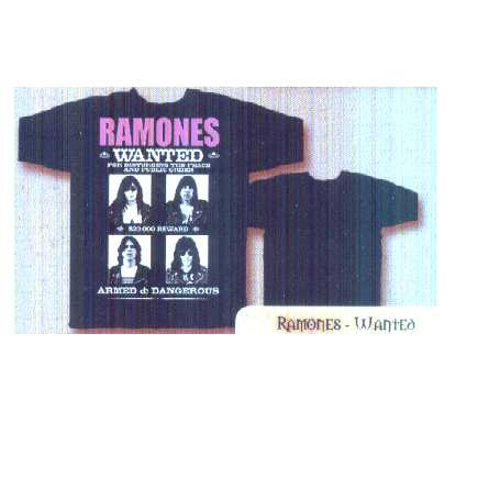 T-shirt Ramones Wanted