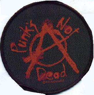Tygmärke Punks Not Dead