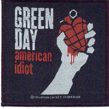 Tygmärke Green Day, American Idiot