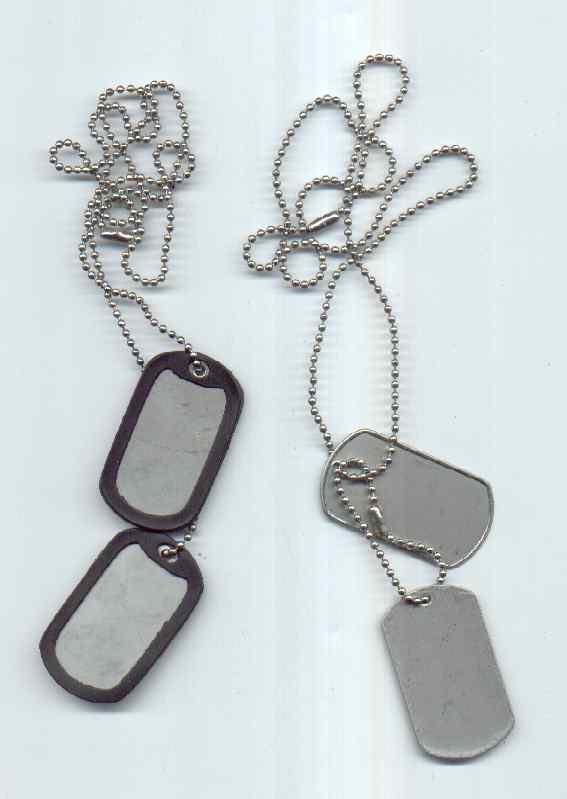 ID-bricka  US DOG TAG